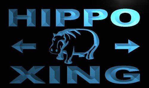 Hippo Xing Neon Light Sign