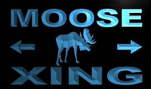 Moose Xing Neon Light Sign